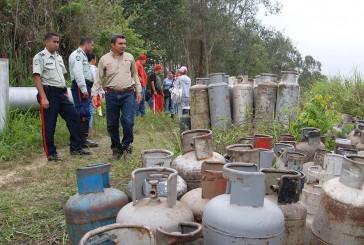 Poliguaicaipuro recuperó vehículos y bombonas de PDVSA Gas