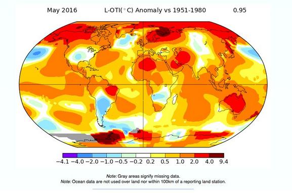 Mayo registró nuevo récord de temperatura en el planeta
