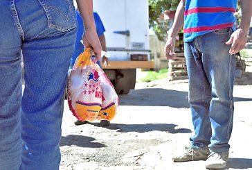 Llevaron comida a más  de 500 familias