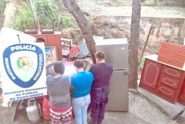 Presos tres robacasas de El Nacional
