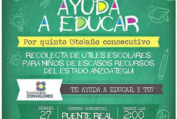 Fundación ConValores recolectará útiles escolares
