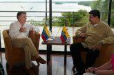 Inicia el encuentro entre Santos y Maduro
