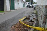 300 familias sin agua tras rotura de tubería