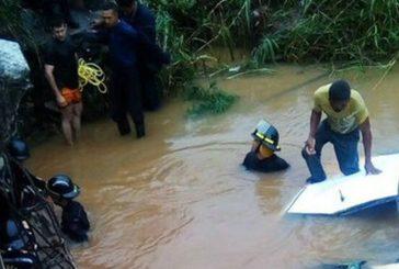 Embarazada falleció en accidente vial al caer en un río en Campo Carabobo