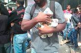 Saquearon un camión que transportaba harina en Plaza Venezuela