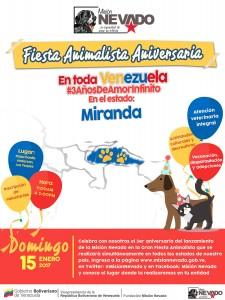 Fiesta animalista de la Misión Nevado en la Danilo Anderson