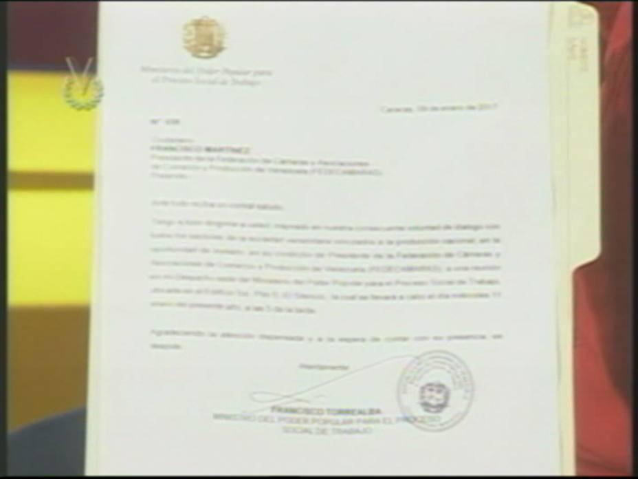 Ministro del Trabajo citó al presidente de Fedecámaras