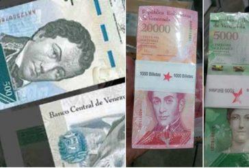 Llega al país cargamento de billetes del nuevo cono monetario