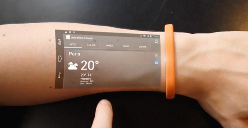 Brazaletes inteligentes: conoce el teléfono que funciona en la piel