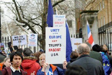 Protestan en Londres por posible visita oficial de Trump