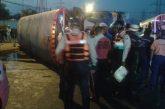 Carabobo: 15 lesionados dejó vuelco de autobús en el distribuidor Firestone