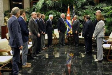Raúl Castro recibió a delegación del Congreso de Estados Unidos