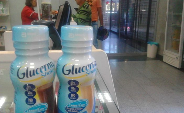 Solo se consigue Glucerna para los diabéticos