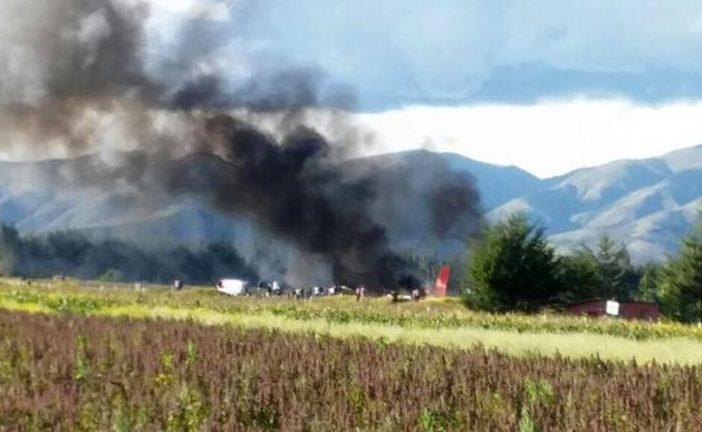 Se incendió un avión en Perú sin ocasionar víctimas