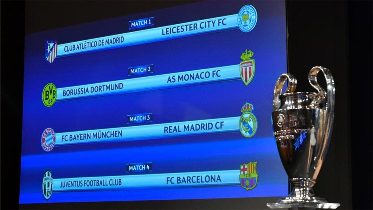 Bayern-Real Madrid y Juventus-Barcelona, platos fuertes de los cuartos de Champions