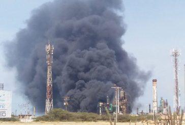 Se registró incendio en la refinería de Amuay
