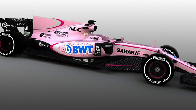 Force India tiñe la Fórmula Uno de rosa para 2017