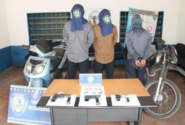 Policarrizal encarcela a tres antisociales