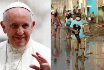 Papa Francisco le envió $ 100.000 a los damnificados del Perú