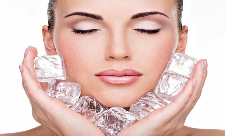 Los beneficios de un cubito de hielo para la piel