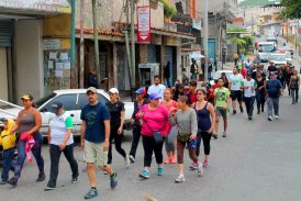 Más de 60 carrizaleños caminaron 10K  en X Caminata Día Internacional de la Mujer