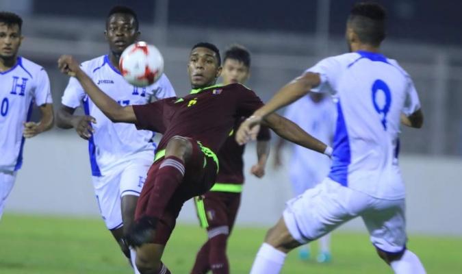 Vinotinto sub 20 igualó 1-1 frente a Honduras