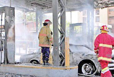 Incendio de gasolinera deja tres heridos en Maracaibo