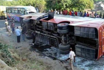 Colisión de un autobús y un camión de gasolina dejó 27 muertos en Kenia