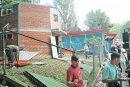Recuperan estructuras destrozadas