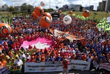 Exigen renuncia de Temer con protesta frente al Congreso brasileño