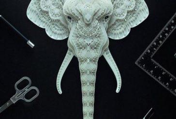 Crea esculturas en papel para generar conciencia sobre los animales en peligro de extinción