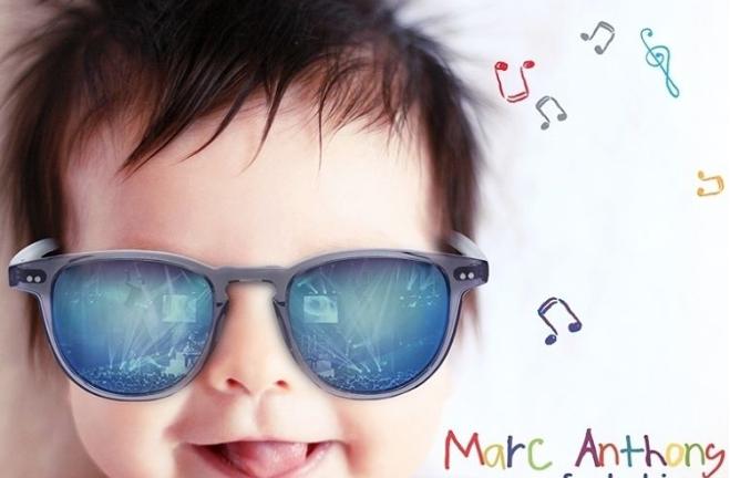 Marc Anthony sacó al ruedo su disco para bebés en el que Nacho trabajó