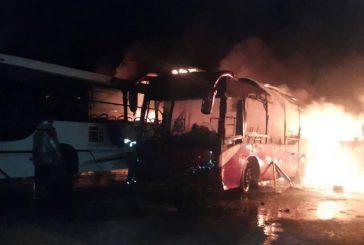 Tres personas detenidas por quema de autobuses de TransBolívar