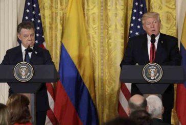 Trump tras reunión con Santos: Seguiremos trabajando con Colombia sobre situación de Venezuela
