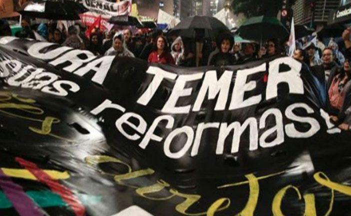 Brasileños protestarán para exigir renuncia de Temer