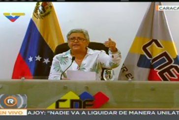 Tibisay Lucena ratificó que elección Constituyente será en nivel sectorial y territorial
