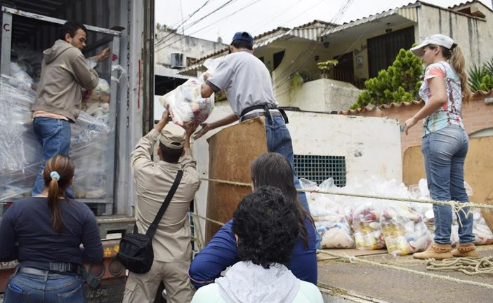 Distribuyeron 11 toneladas de comida