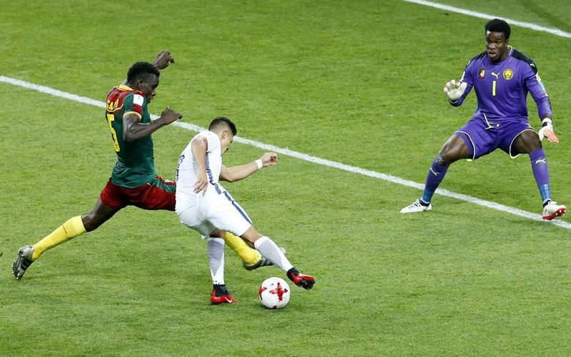 Chile obtuvo la victoria ante Camerún