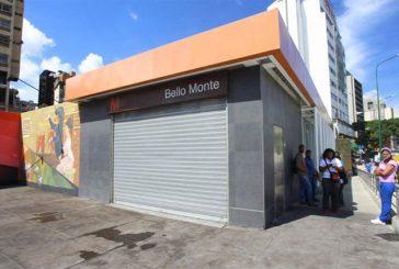 Metro de Caracas anuncia cierre de estaciones Chacao y Bello Monte
