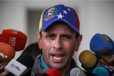 """Capriles rechazó """"imposición de la Constituyente por la fuerza"""""""