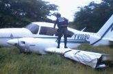 Avioneta aterriza de emergencia en Ocumare del Tuy por fallas mecánicas