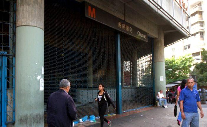 Cierran la estación Chacao del Metro