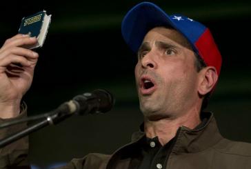 Capriles anunció que primarias de la MUD podrían realizarse el 3 de septiembre