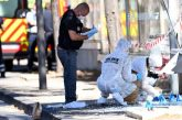 En Marsella, una furgoneta embistió contra dos paradas de autobuses