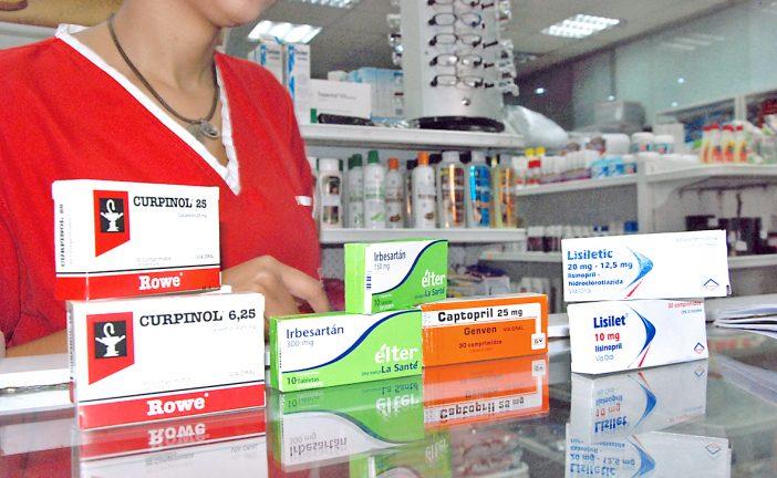 Farmacias reciben antihipertensivos