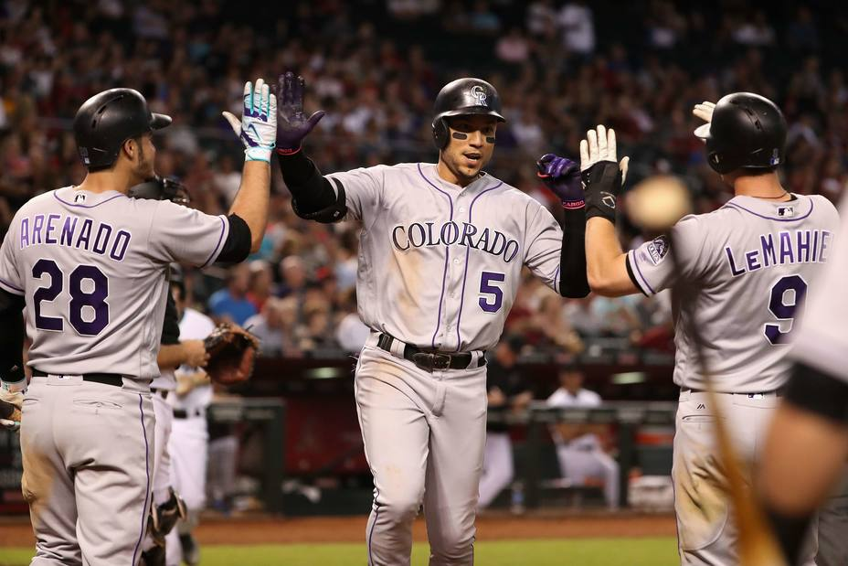 Carlos González destacó en la jornada de ayer en MLB