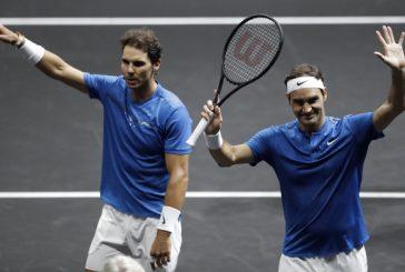 Tenis en estado puro: Federer y Nadal se juntaron