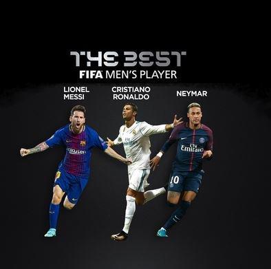 Cristiano, Messi y Neymar competirán por el premio The Best