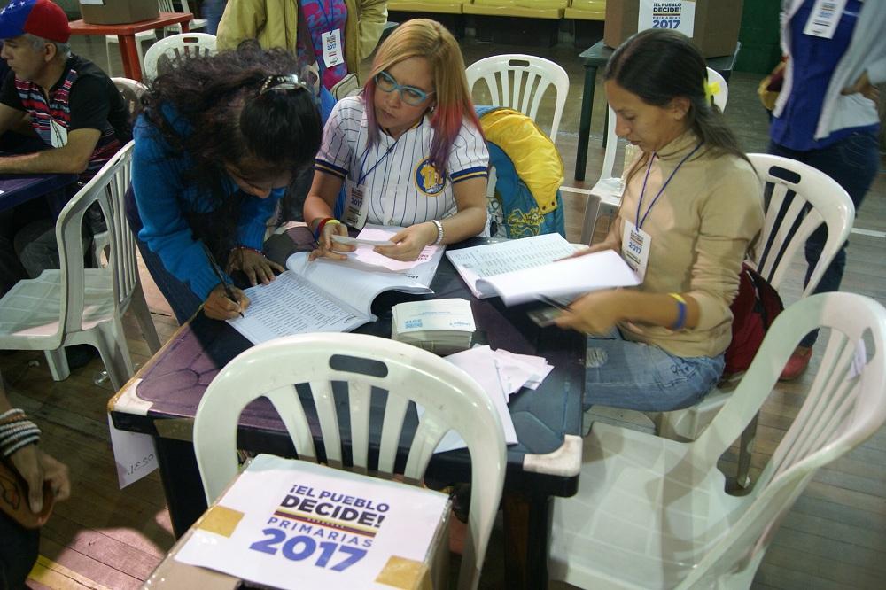 Opositores en Guaicaipuro  colmaron centros de votación