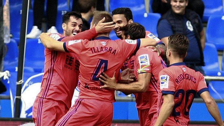 Real Sociedad se une al Barcelona  en cabeza con pleno de triunfos
